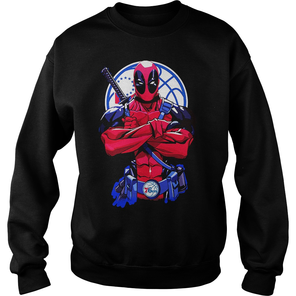 Giants Deadpool Philadelphia 76ers shirt