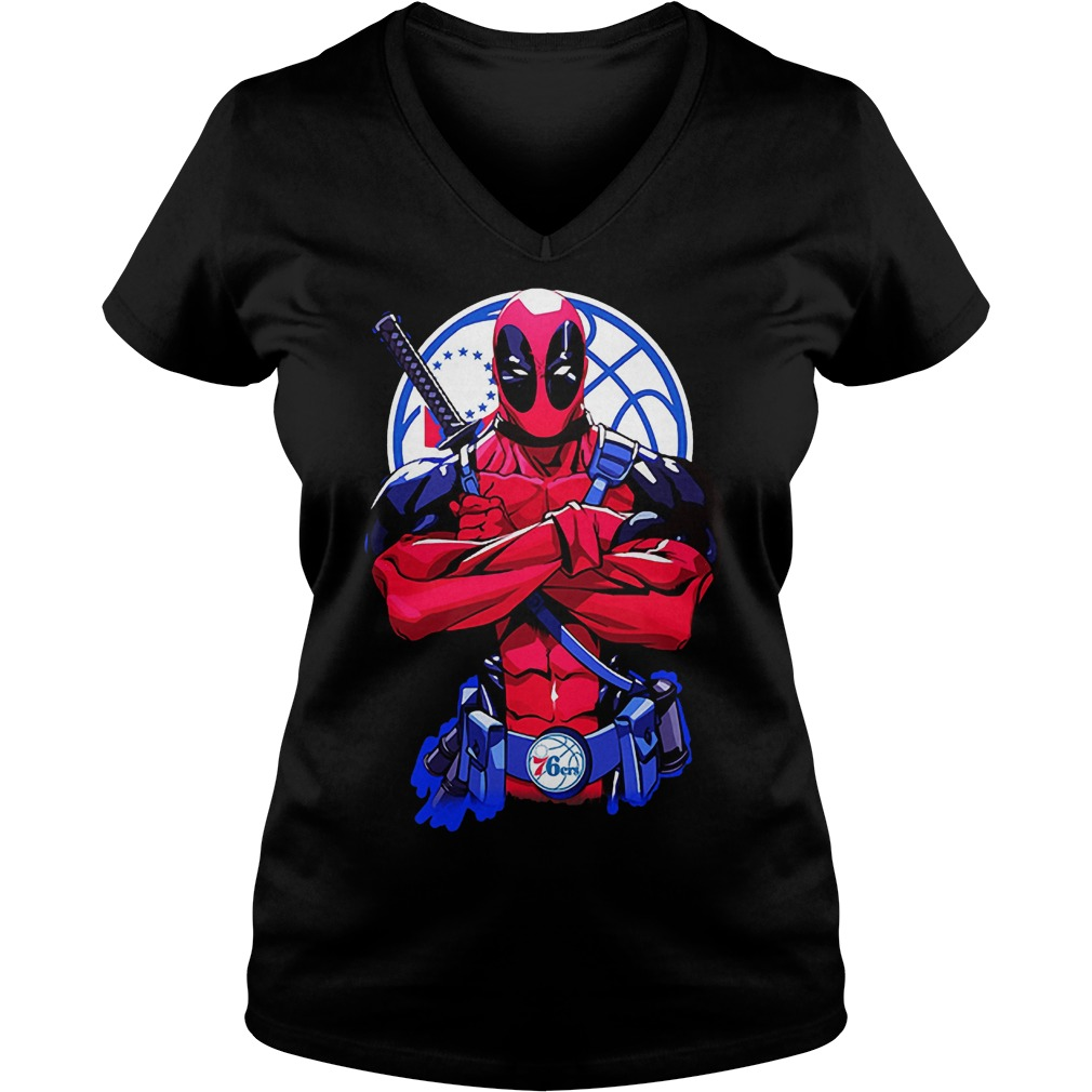 107072 1540886046108 Next Level Black  w97  front - Giants Deadpool Philadelphia 76ers shirt