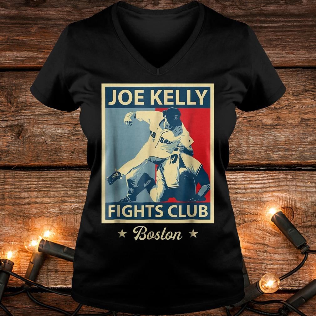 Baseball Joes-Kelly Boston Fights-Club shirt Ladies V-Neck