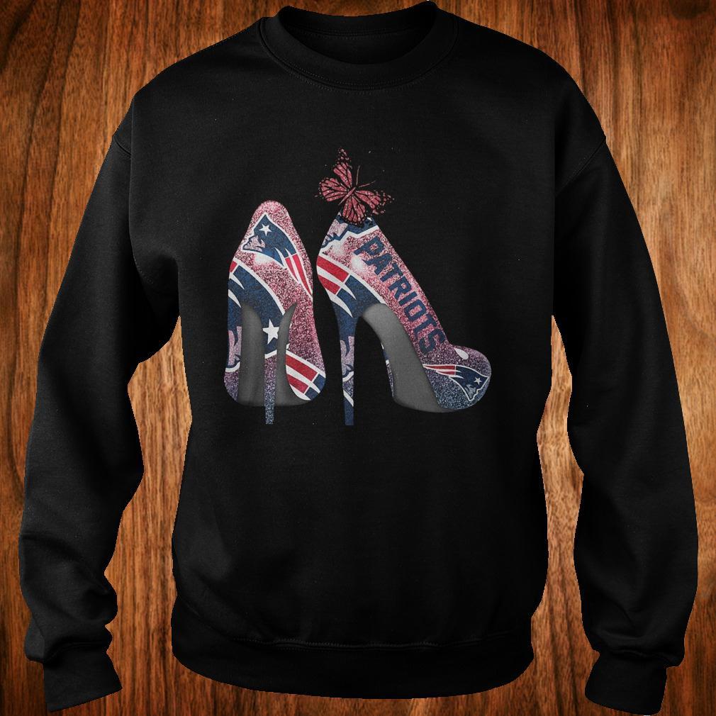Butterfly Heel Rhinestones New England Patriots Nfl Shirt Sweatshirt Unisex