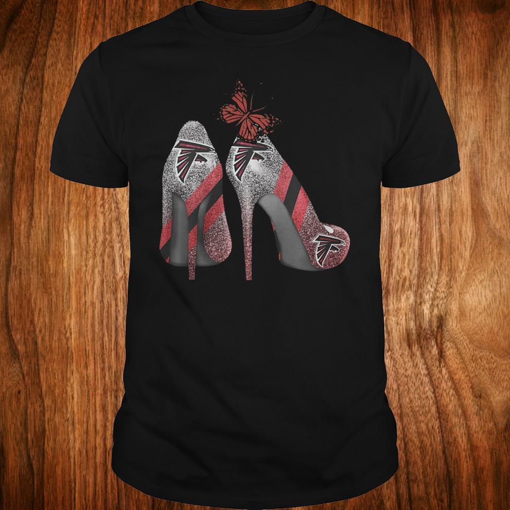 Butterfly Rhinestone heel Atlanta Falcons Nfl Shirt