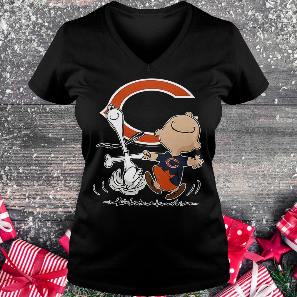 Charlie Brown And Snoopy Chicago Bears Shirt Hoodie Sweater