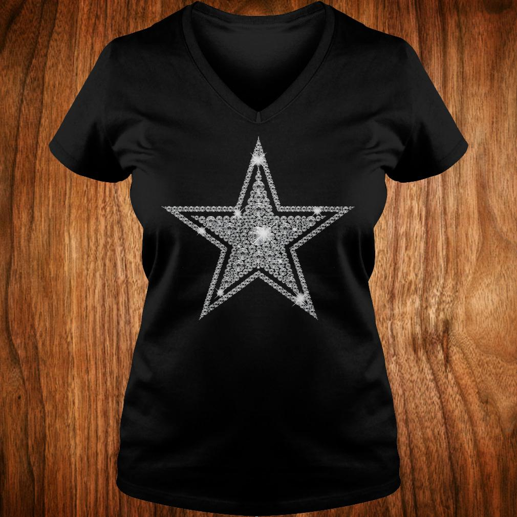 Dallas Cowboys diamond shirt Ladies V-Neck