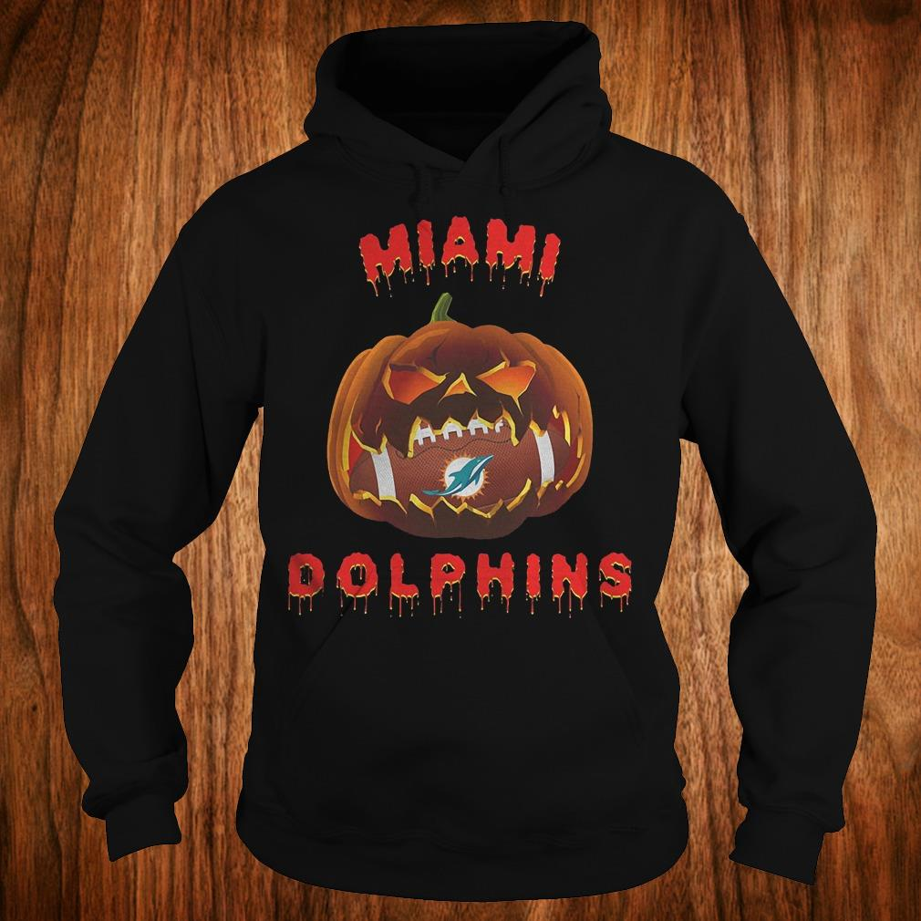 Halloween Pumpkin Miami Dolphins NFL Shirt Hoodie