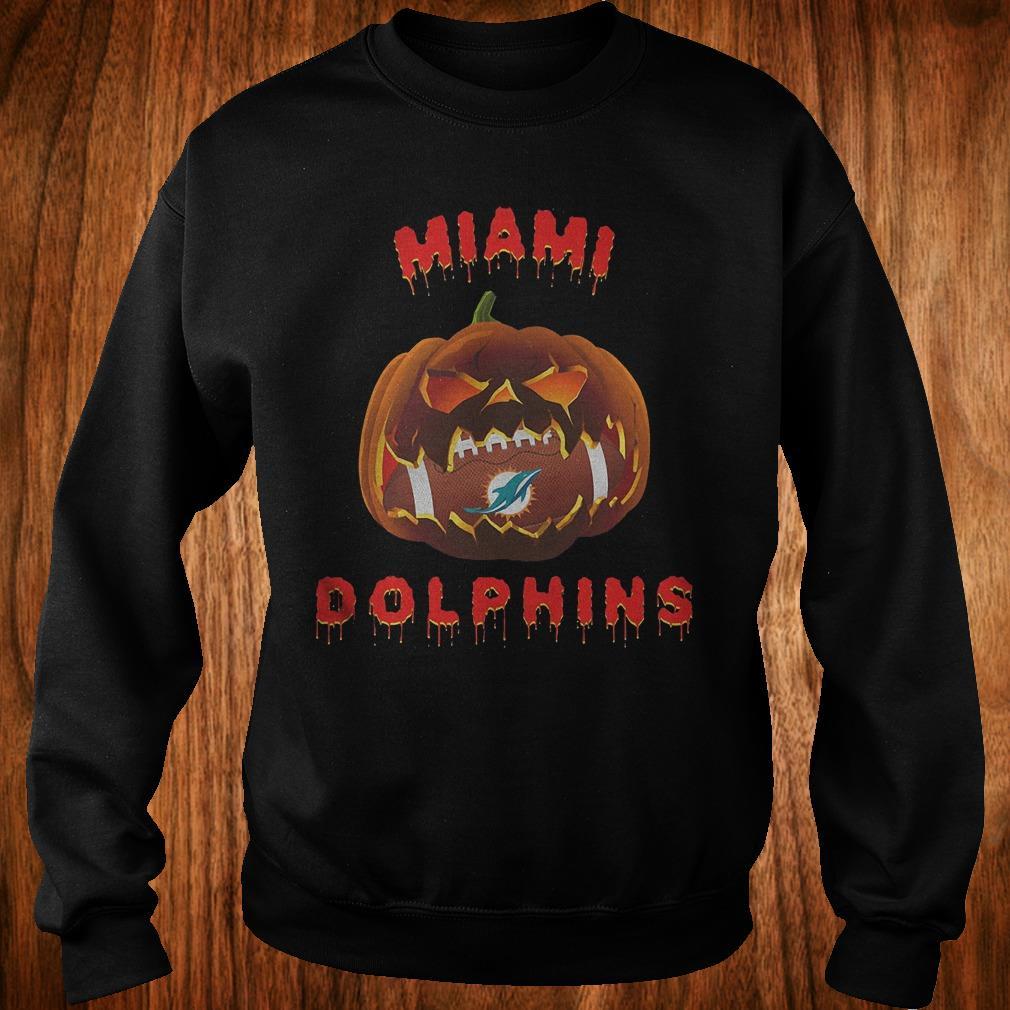 Halloween Pumpkin Miami Dolphins NFL Shirt Sweatshirt Unisex