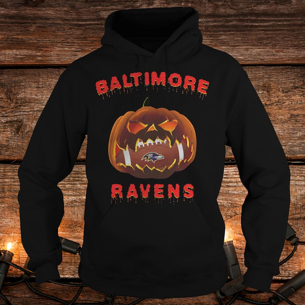 Halloween pumpkin Baltimore Ravens NFL shirt