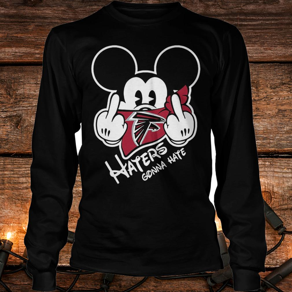 NFL Atlanta Falcons haters gonna hate Mickey Mouse shirt Longsleeve Tee Unisex
