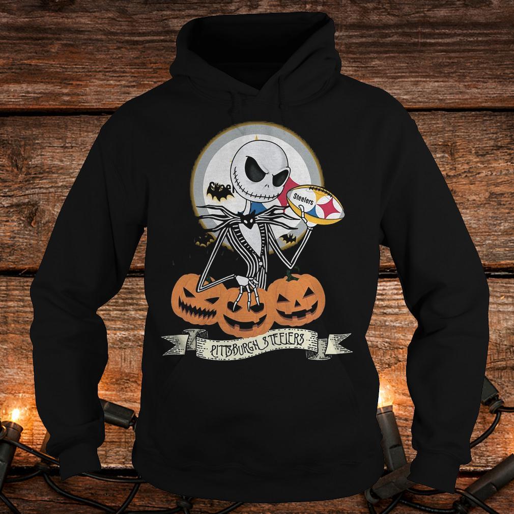nfl halloween pittsburgh steelers jack skellington shirt, hoodie