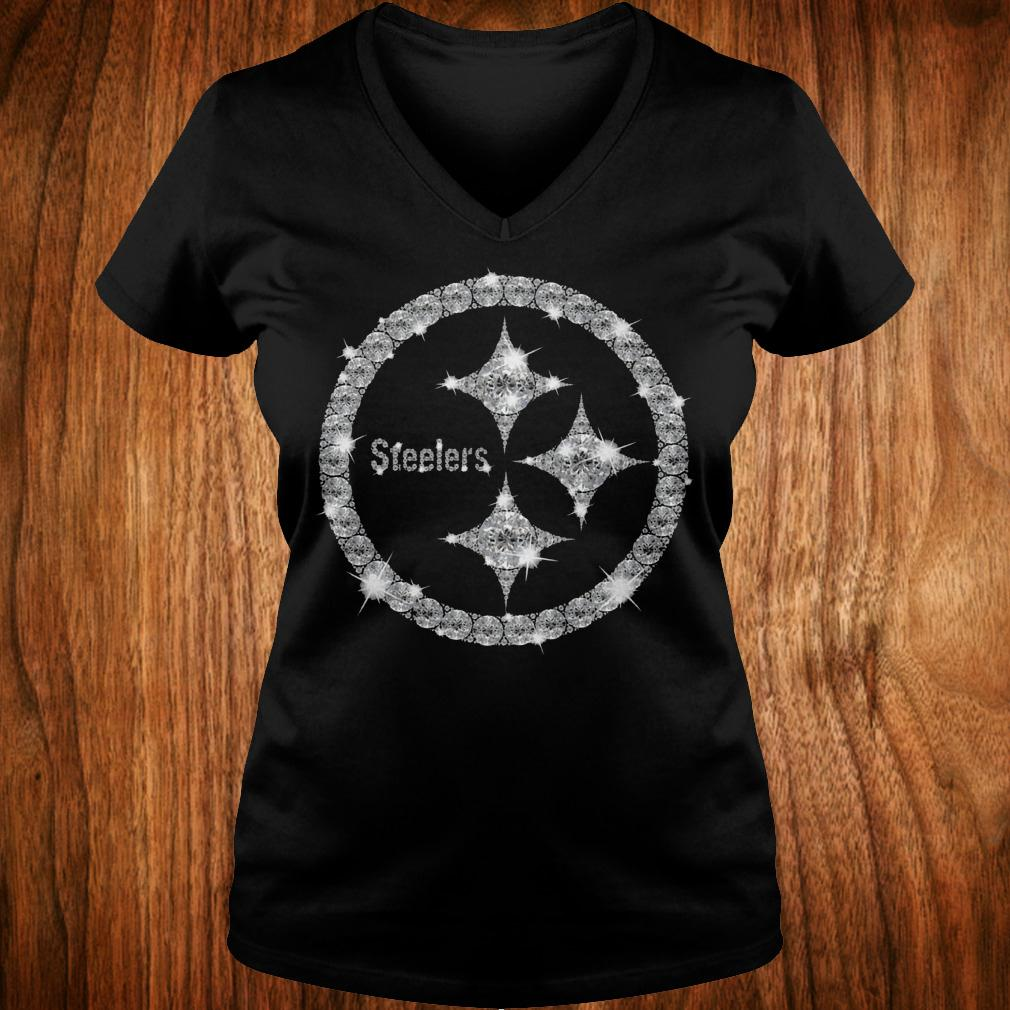 Pittsburgh Steelers diamond shirt Ladies V-Neck