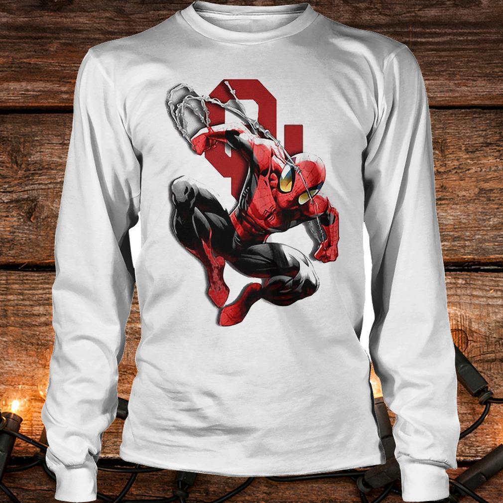 Spiderman Oklahoma Sooners shirt Longsleeve Tee Unisex