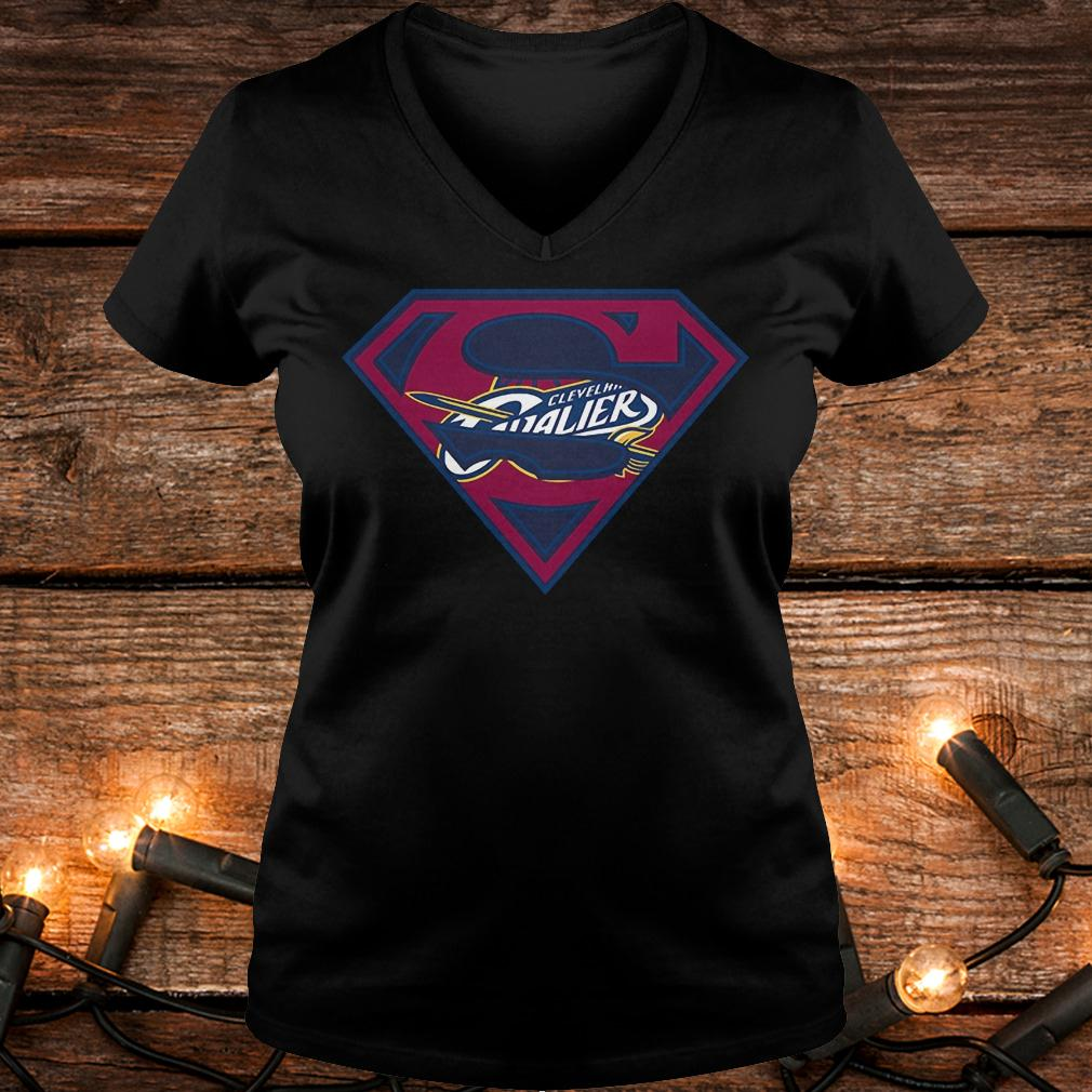 Superman Cleveland Cavaliers shirt Ladies V-Neck