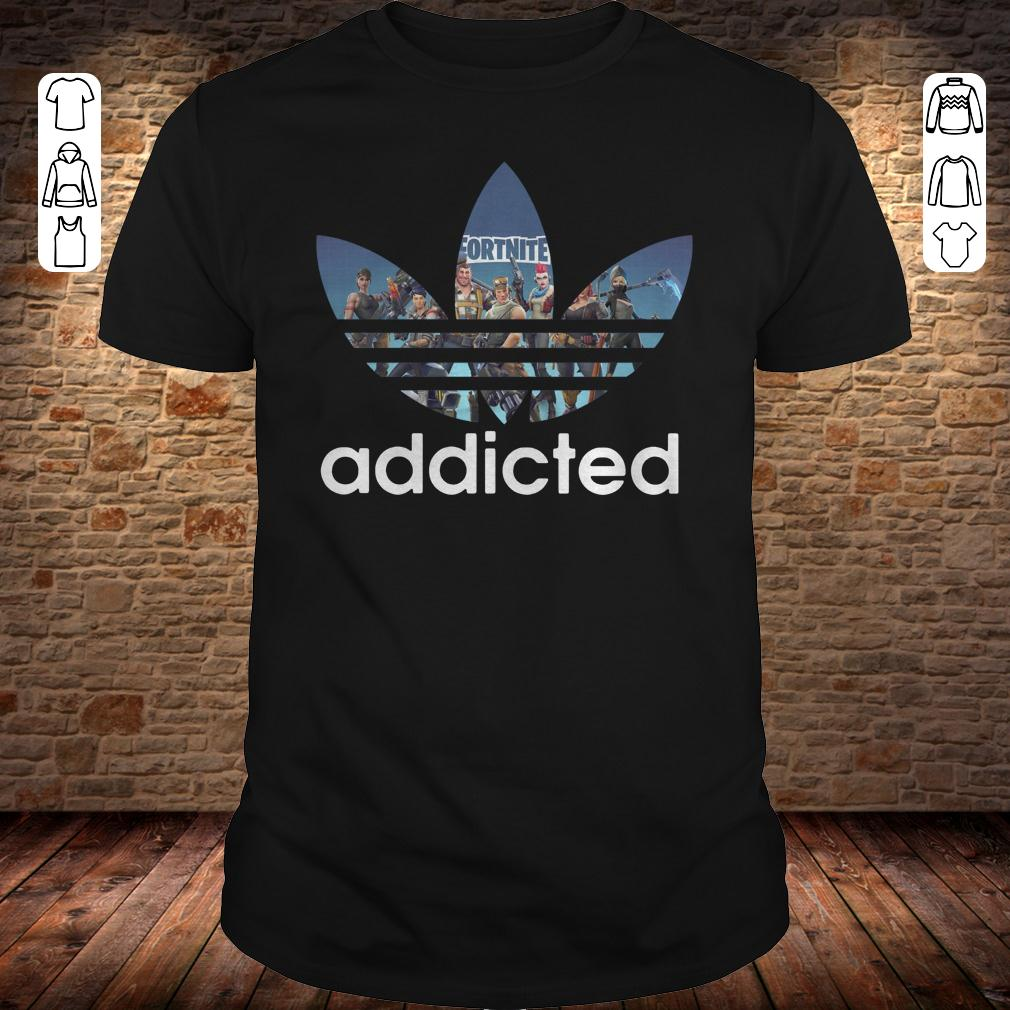 18e5d684 Adidas Fortnite addicted shirt, hoodie, sweater, sweatshirt