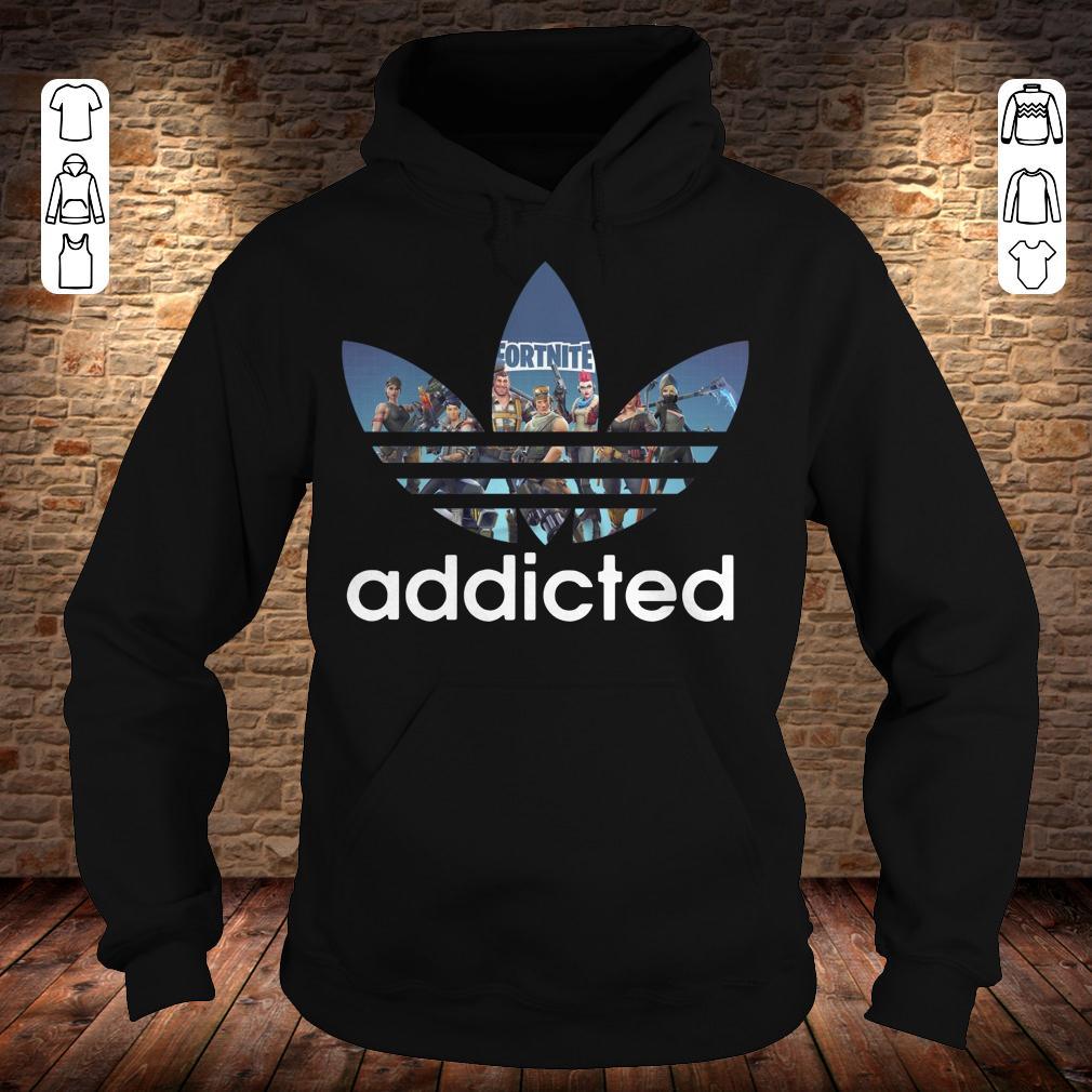 Adidas Fortnite addicted shirt Hoodie