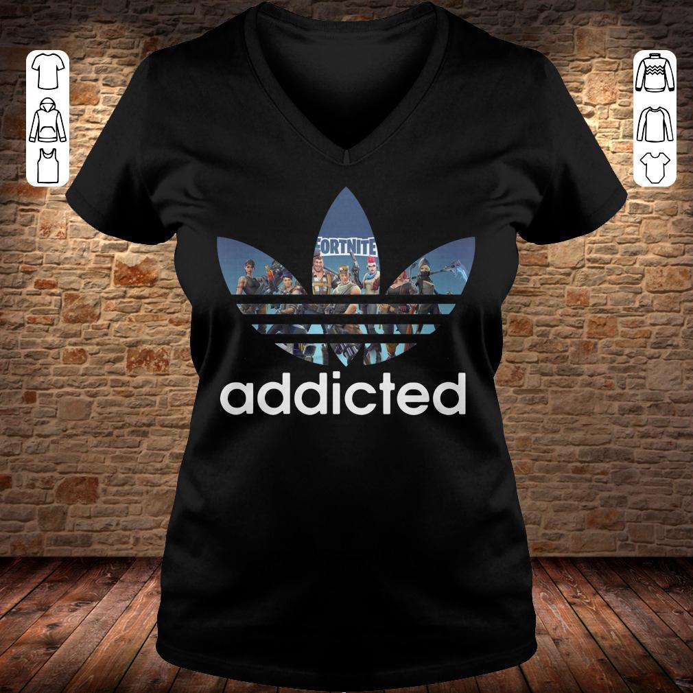 Adidas Fortnite addicted shirt Ladies V-Neck