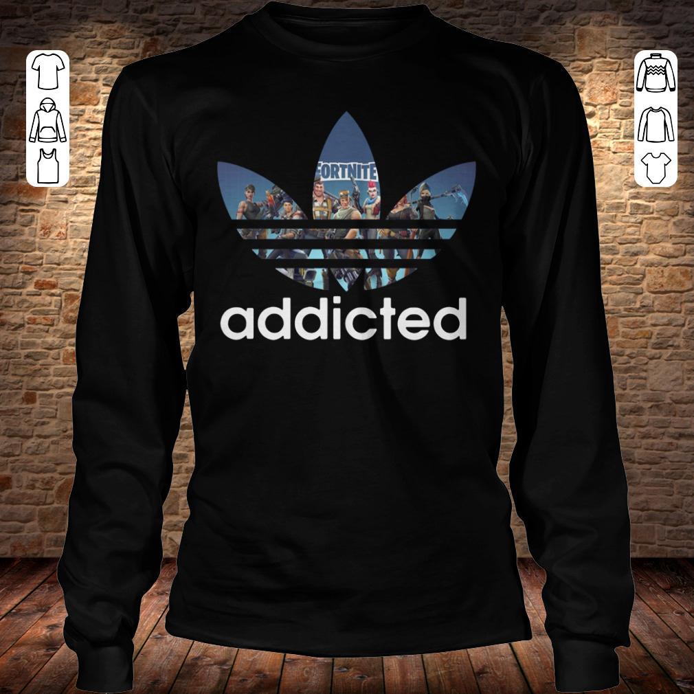 1d3d535b Ladies V-neck. Adidas Fortnite addicted shirt Longsleeve Tee Unisex