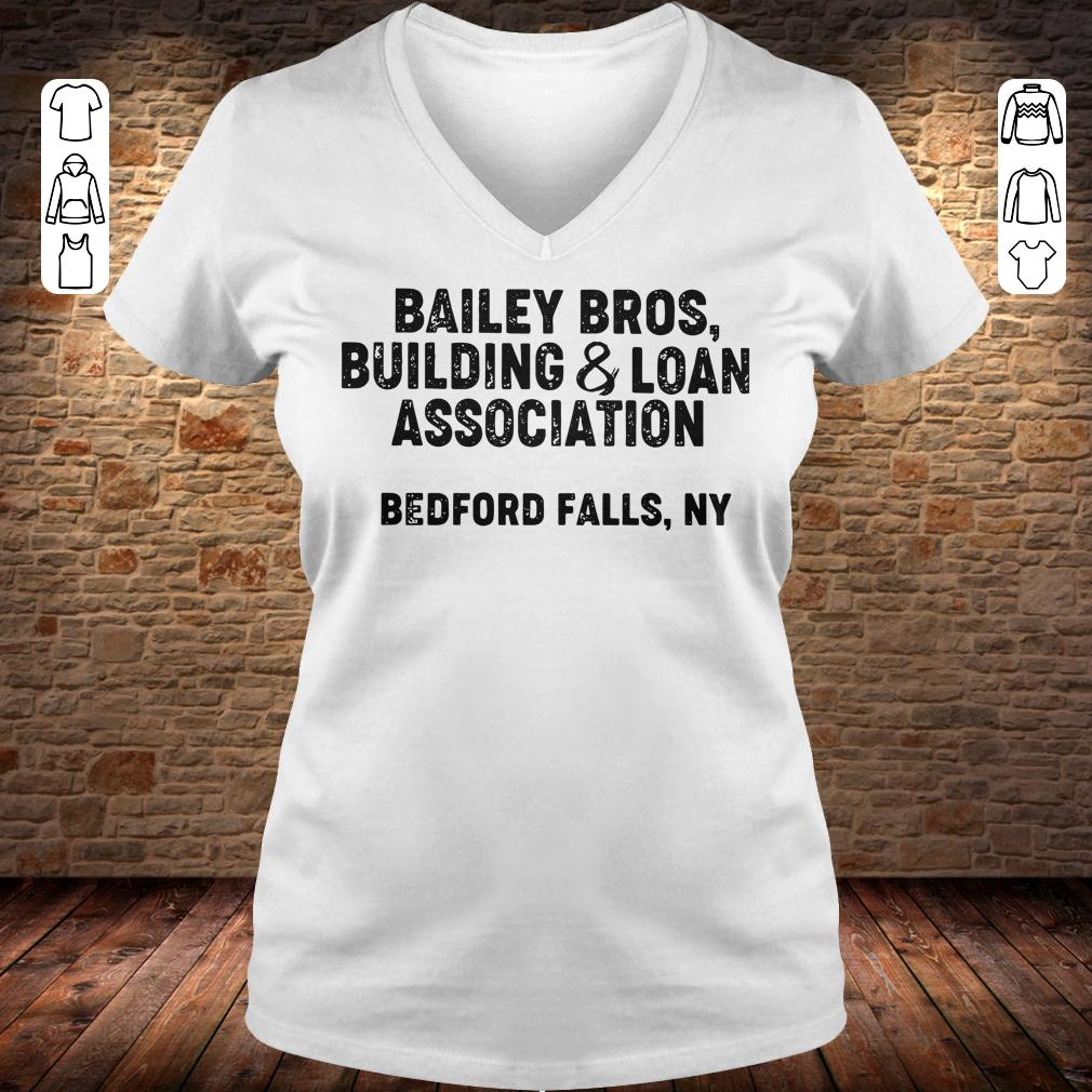 Bailey Bros building Loan Association bedford falls, Ny shirt Ladies V-Neck