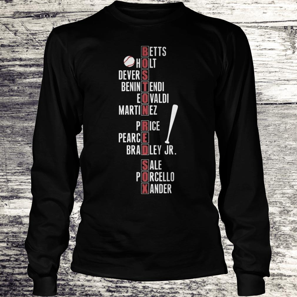 Boston Red Sox player name shirt Longsleeve Tee Unisex