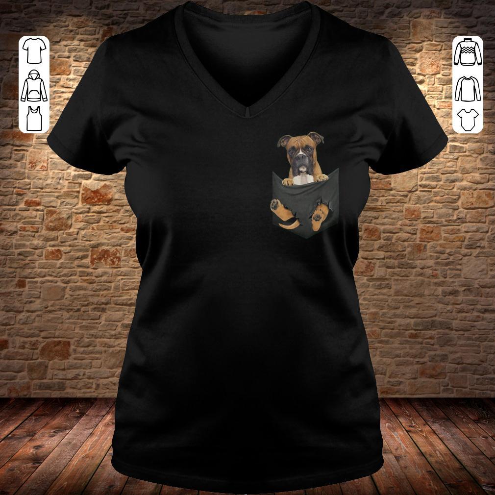 Boxer Tiny Pocket shirt Ladies V-Neck