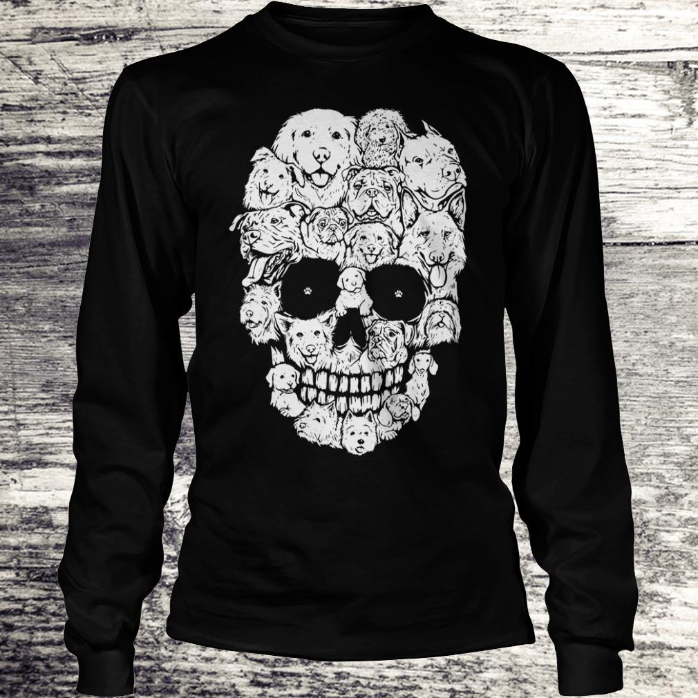 Boy Dogs stacked into skull shirt