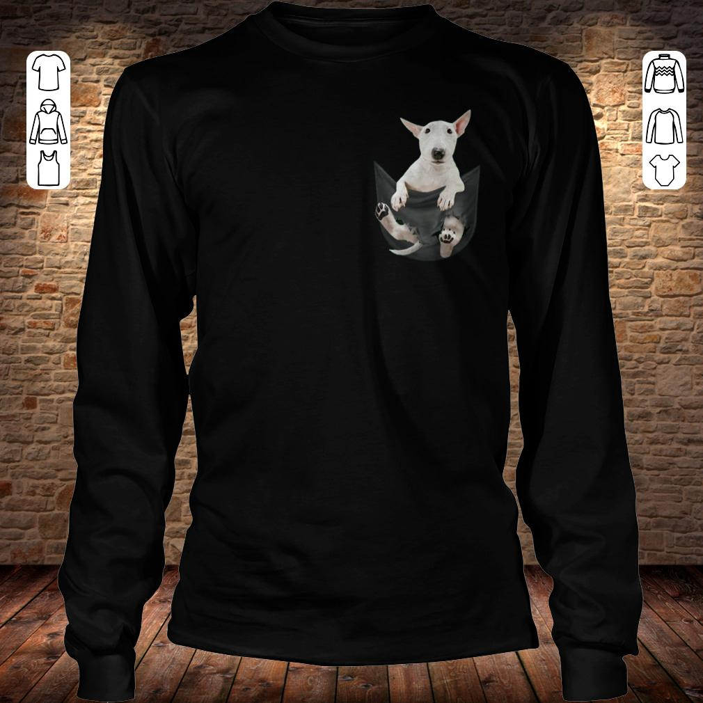 Bull Terrier inside black Tiny Pocket shirt Longsleeve Tee Unisex