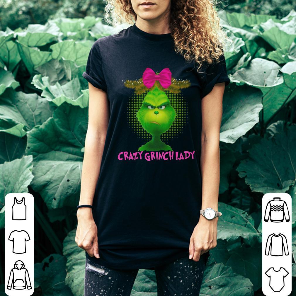 Crazy Grinch lady shirt