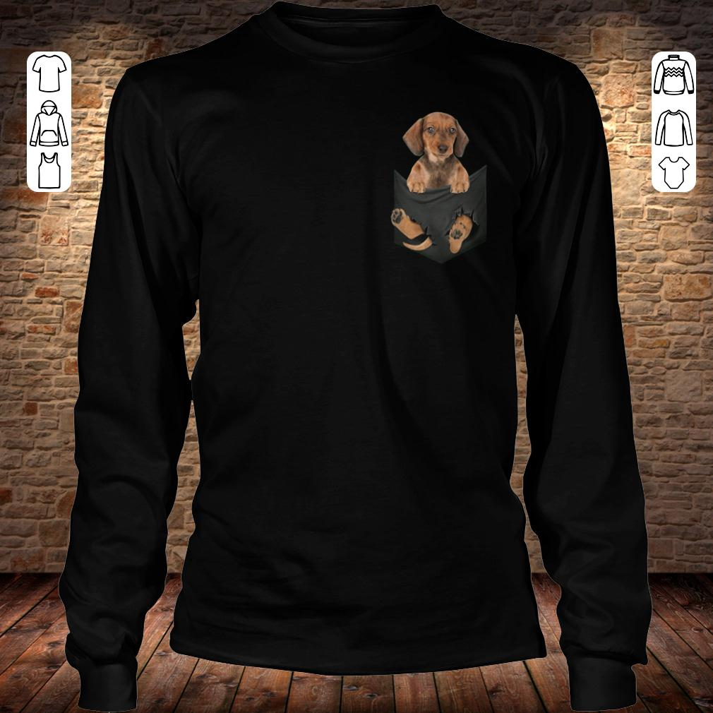 Dachshund in Tiny Pocket shirt Longsleeve Tee Unisex