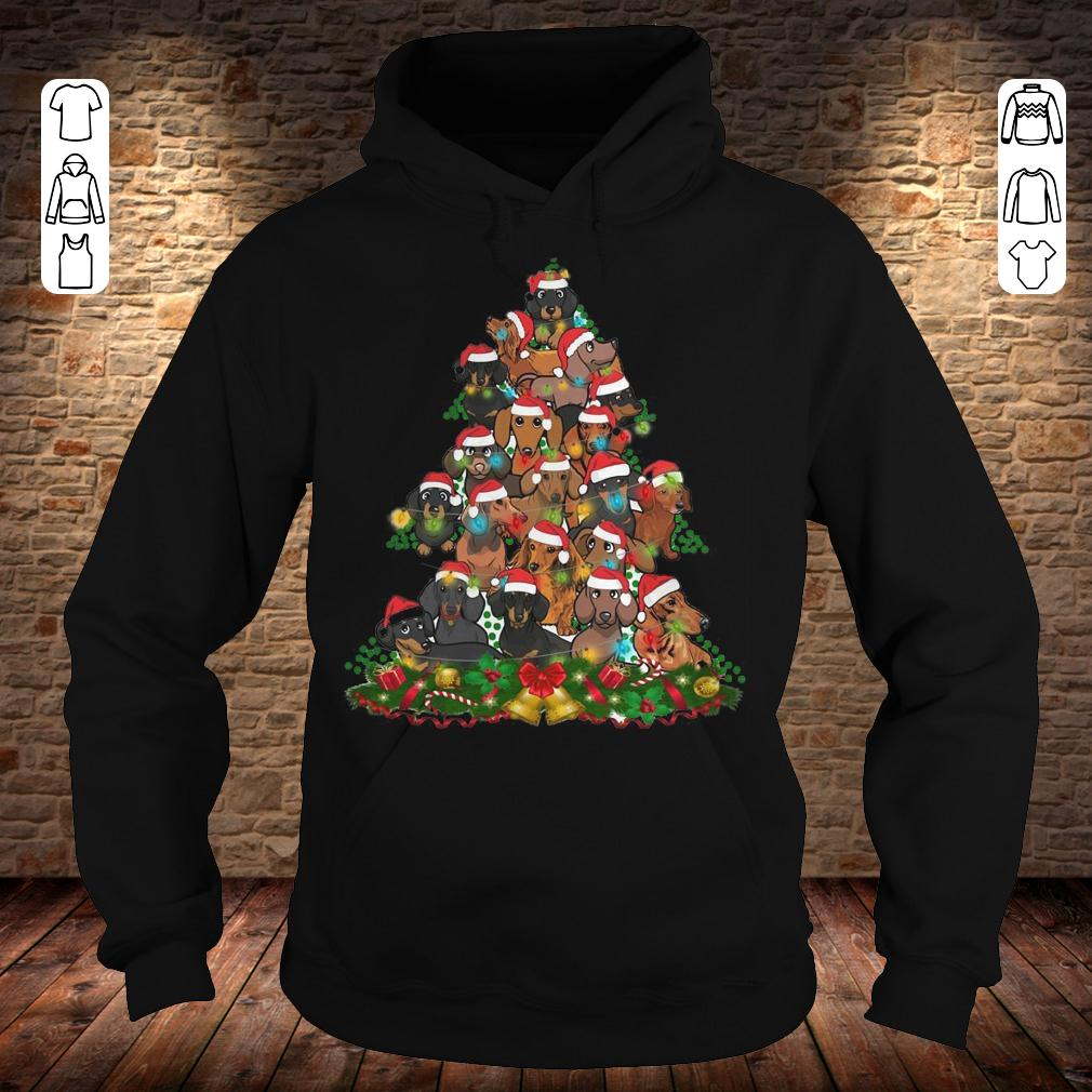 Dachshunds Christmas Tree Hoodie