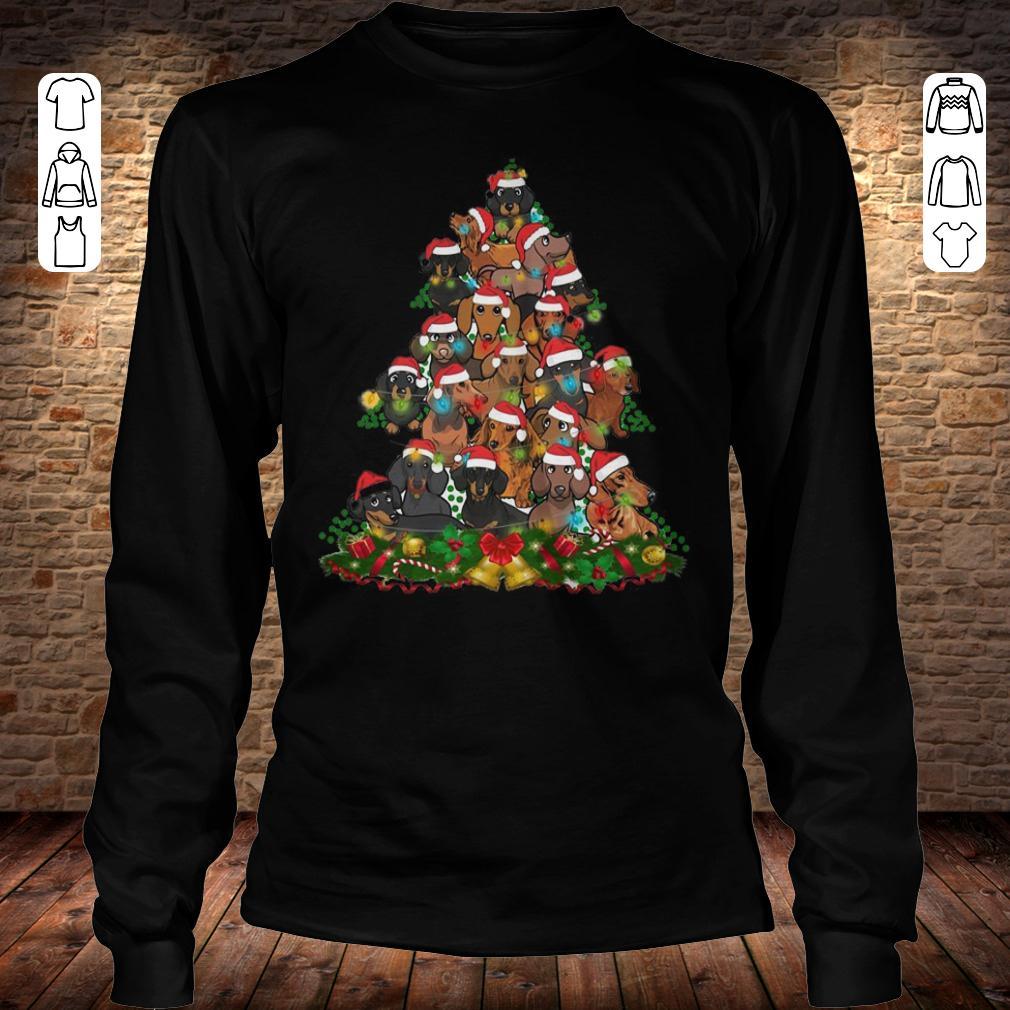 Dachshunds Christmas Tree Longsleeve Tee Unisex