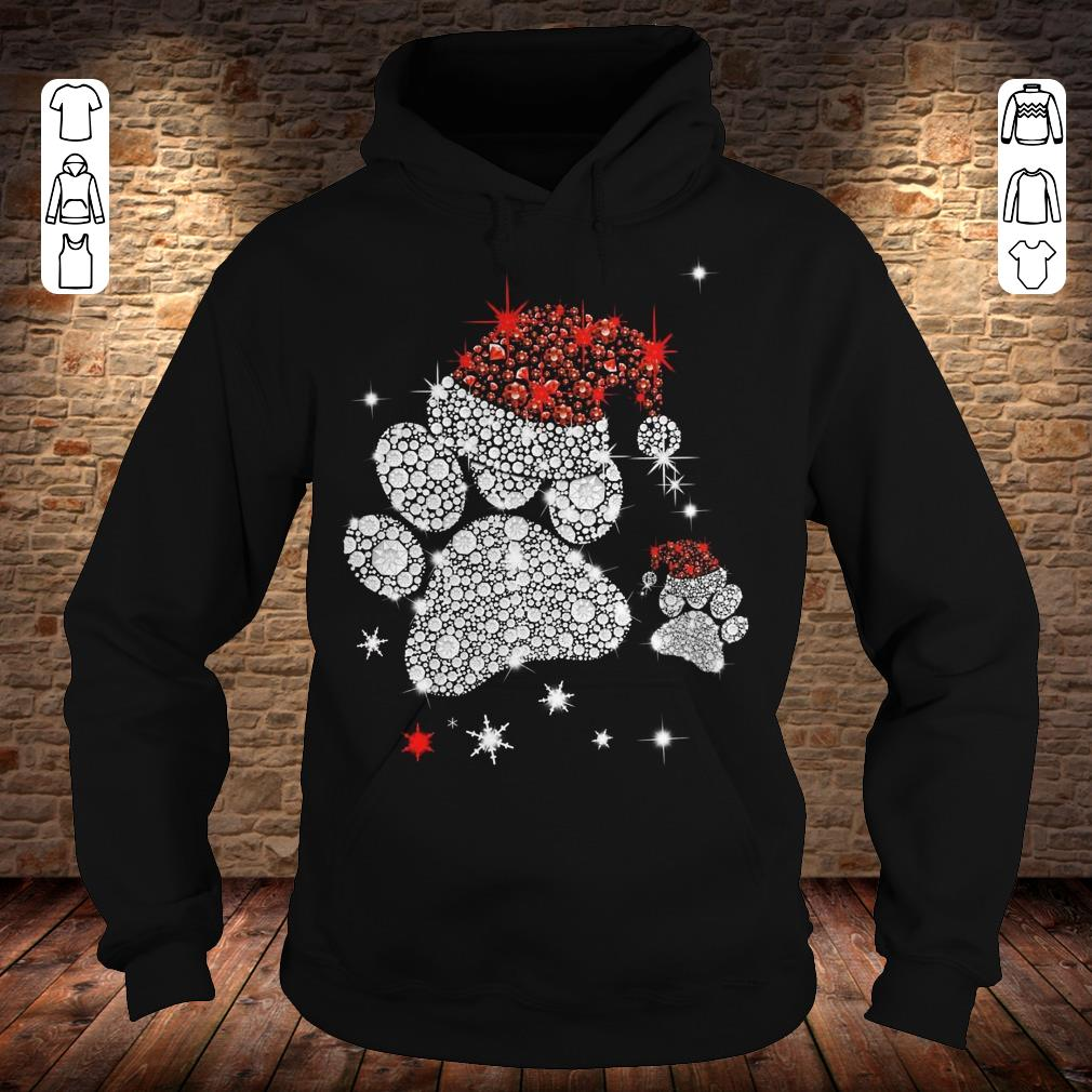 Dog Footprint Santa Hat shirt Hoodie