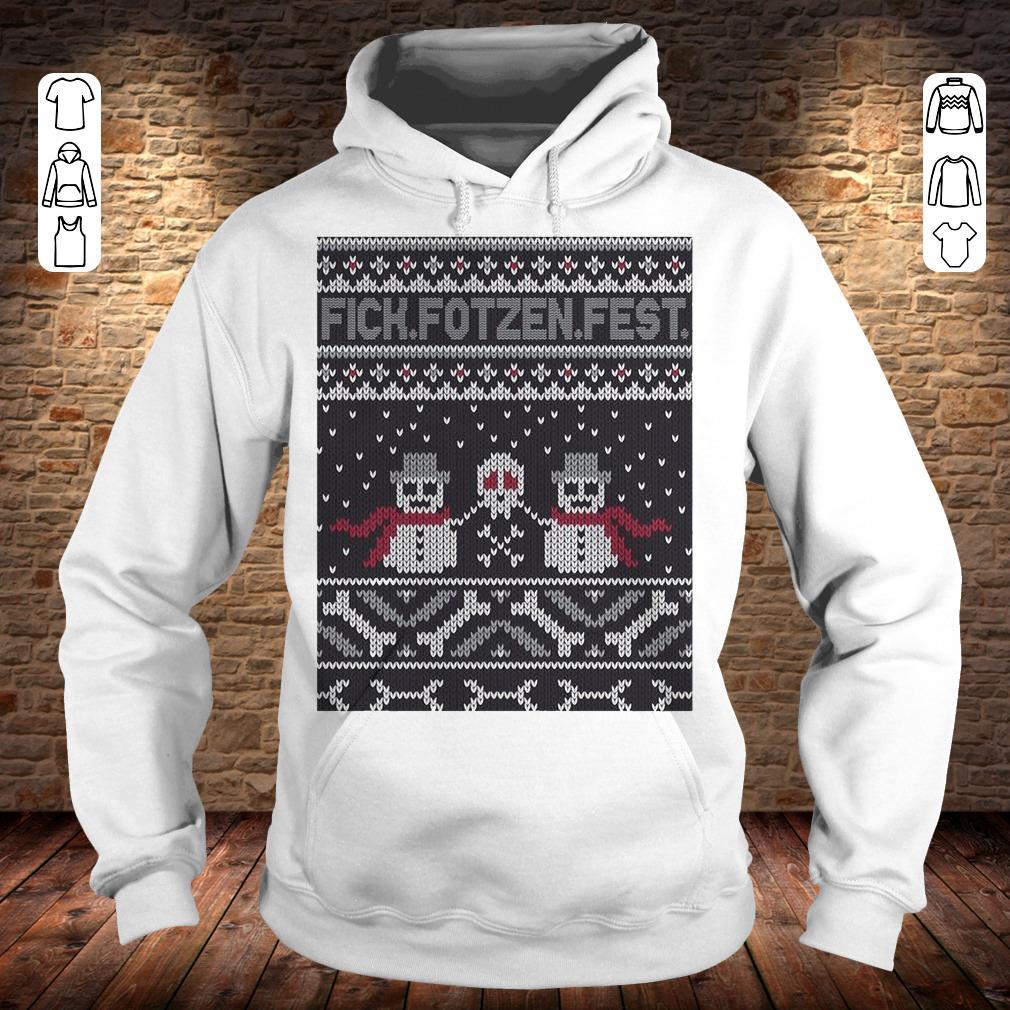 Fick Fotzen Fest Ugly Sweater Hoodie