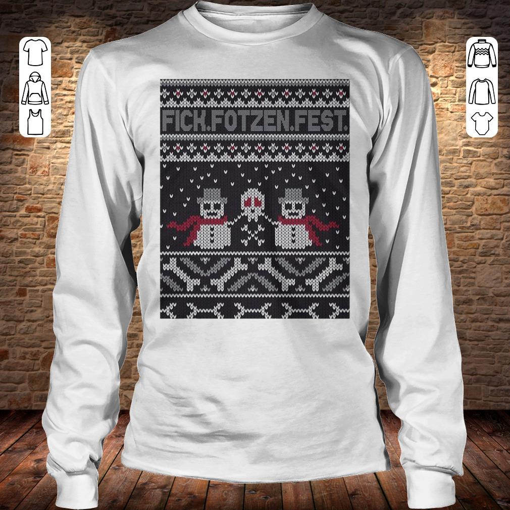 Fick Fotzen Fest Ugly Sweater Longsleeve Tee Unisex