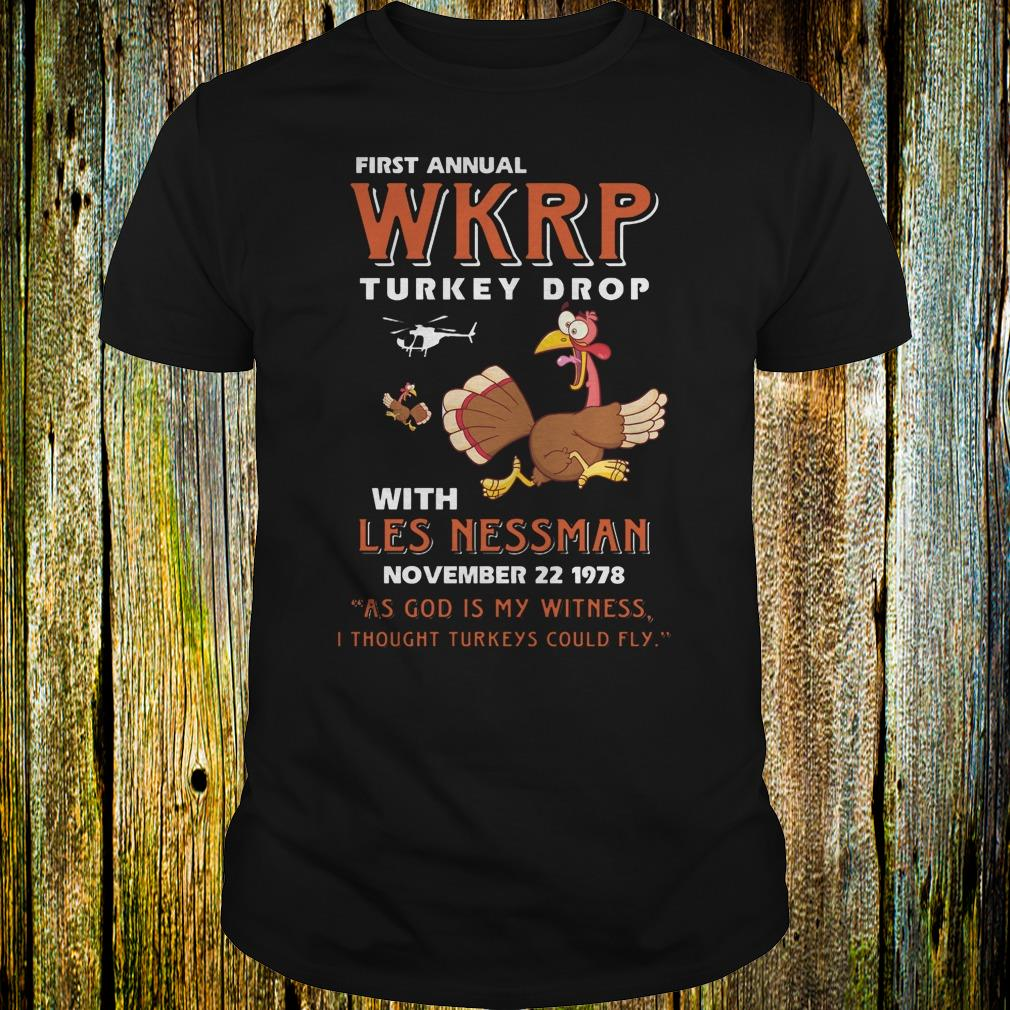 First Annual WKRP Turkey drop with les nessman shirt Classic Guys / Unisex Tee
