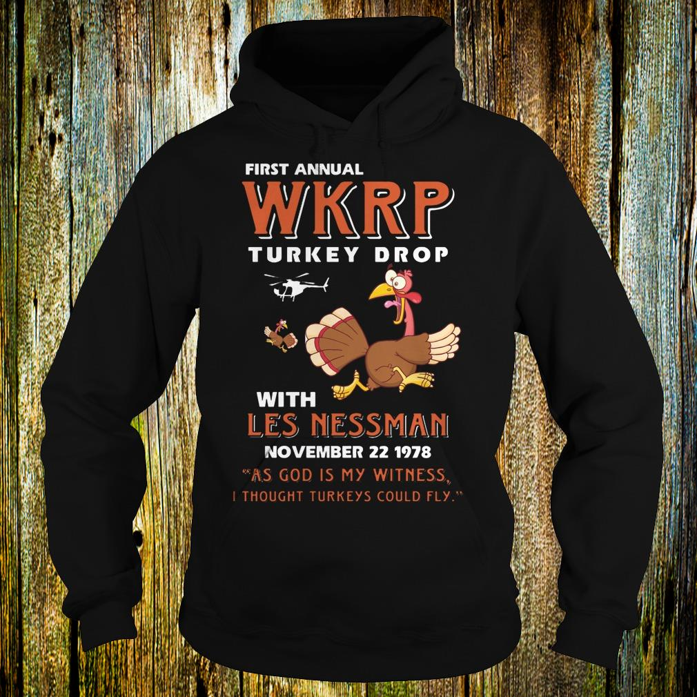 First Annual WKRP Turkey drop with les nessman shirt Hoodie