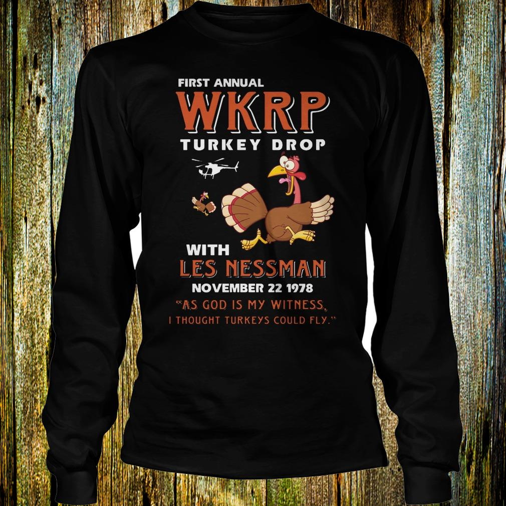 First Annual WKRP Turkey drop with les nessman shirt Longsleeve Tee Unisex