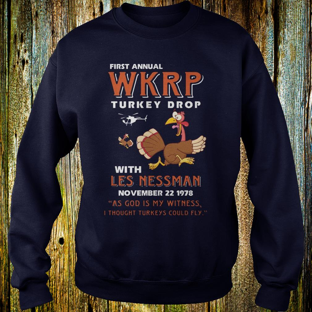 First Annual WKRP Turkey drop with les nessman shirt 1