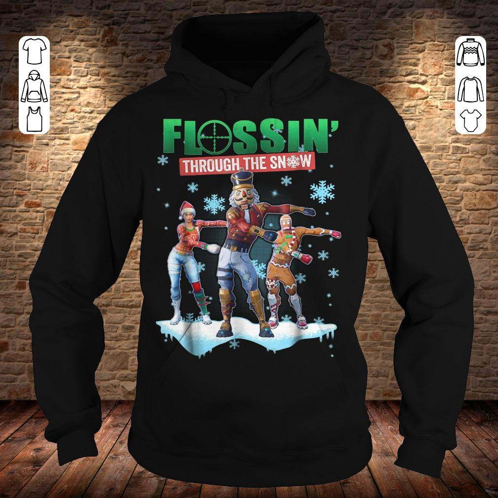 Fortnite Flossin Through the snow shirt Hoodie