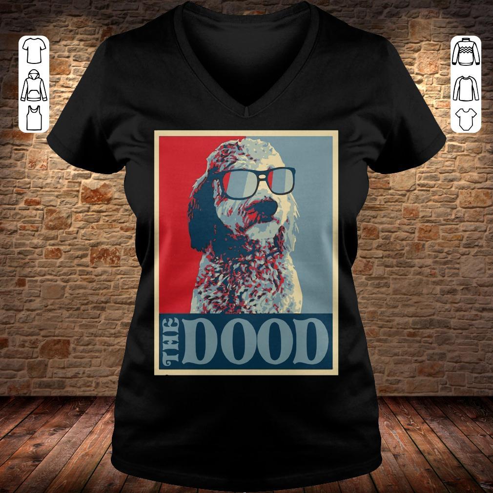 Goldendoodle The Dood shirt Ladies V-Neck