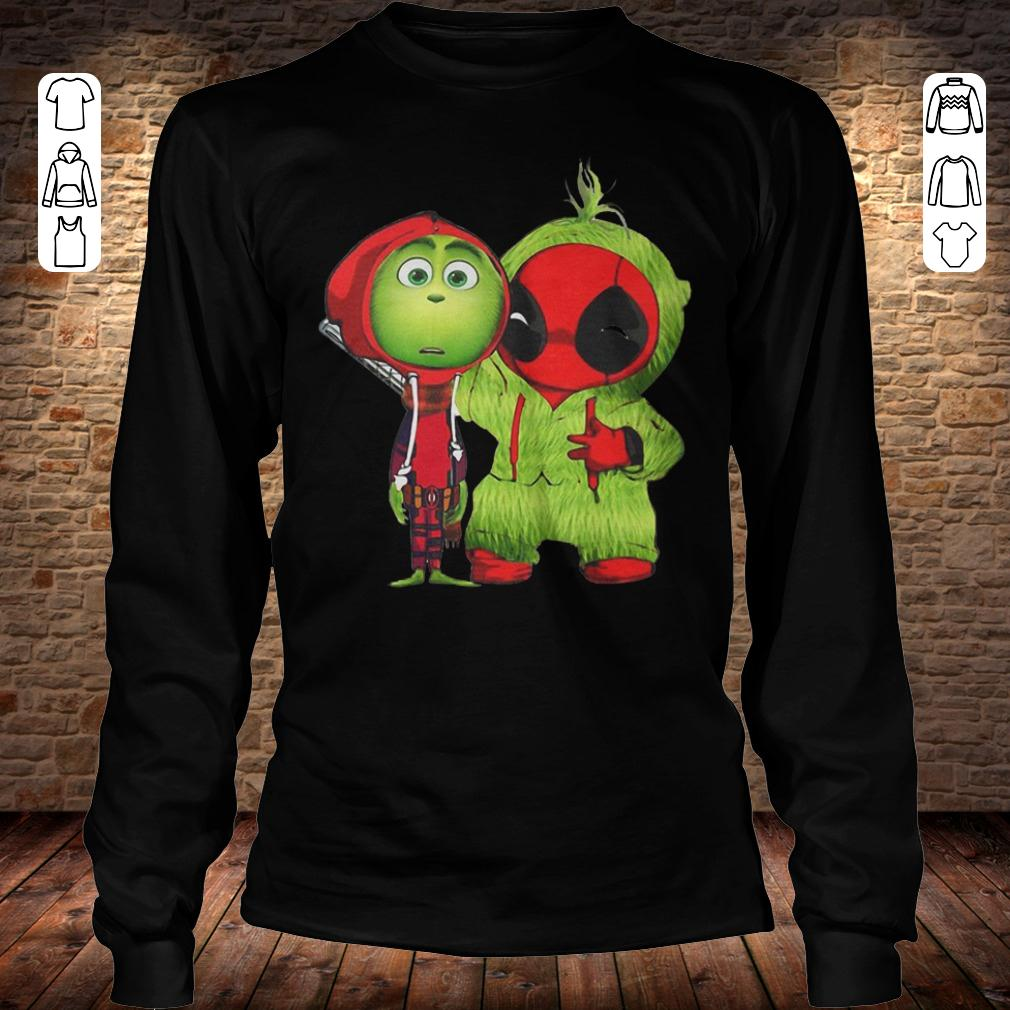Grinch Baby Deadpool shirt Longsleeve Tee Unisex