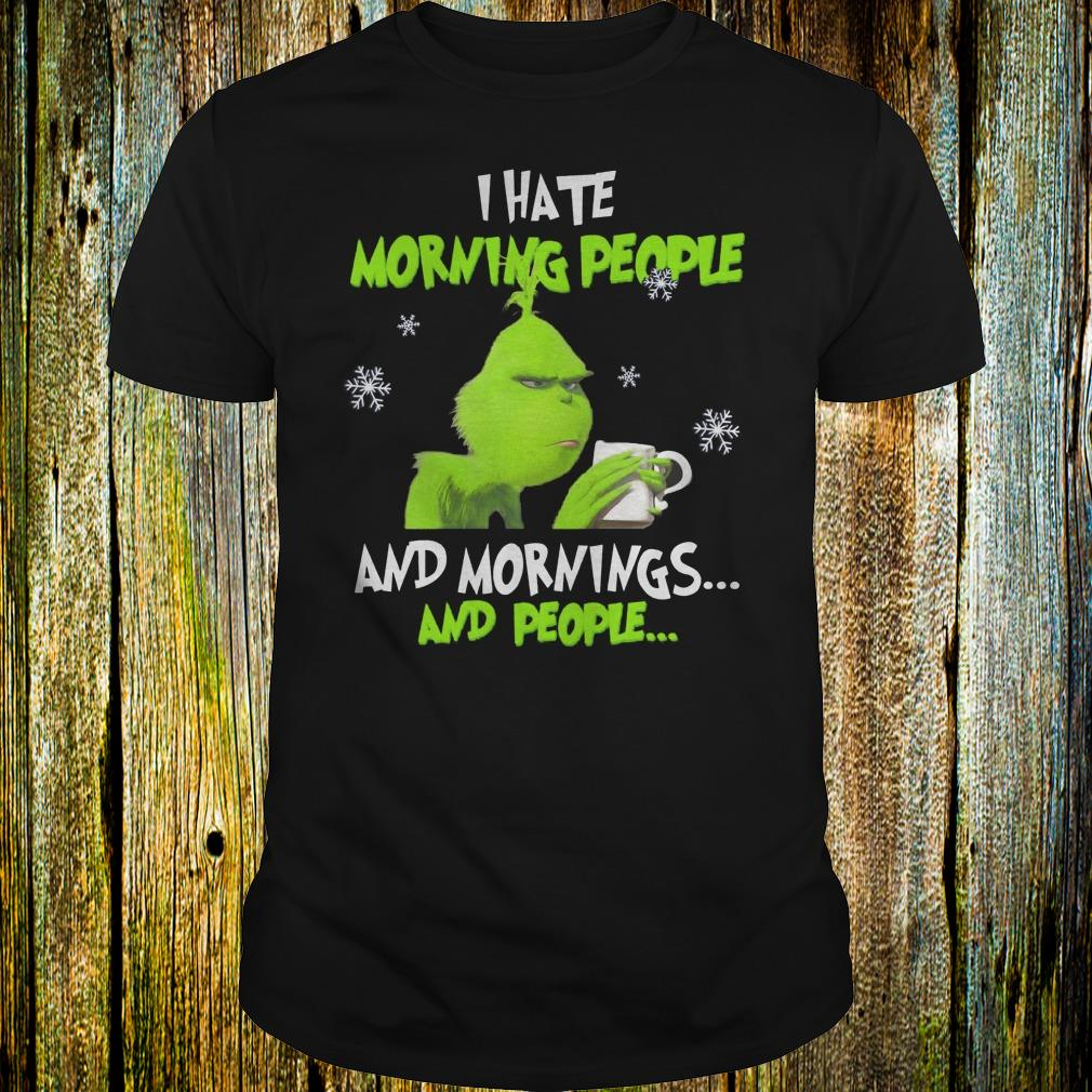 Grinch I hate morning people shirt Classic Guys / Unisex Tee