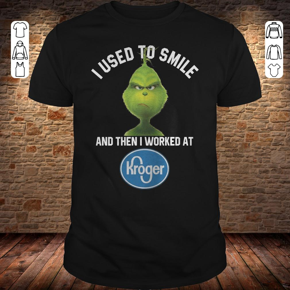 Grinch I used to smile and then i worked at Kroger shirt Classic Guys / Unisex Tee