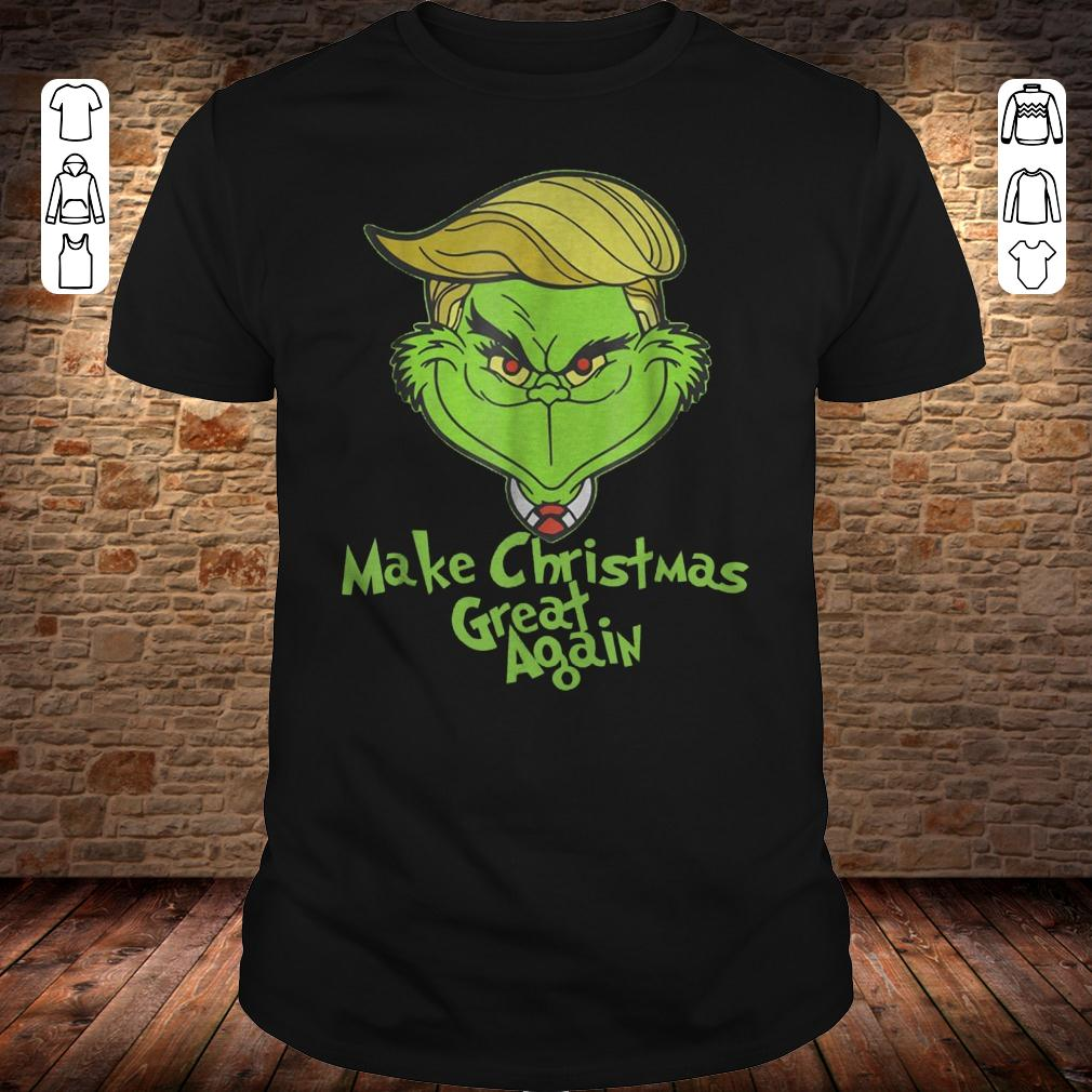 Grinches Trump make christmas great again shirt Classic Guys / Unisex Tee