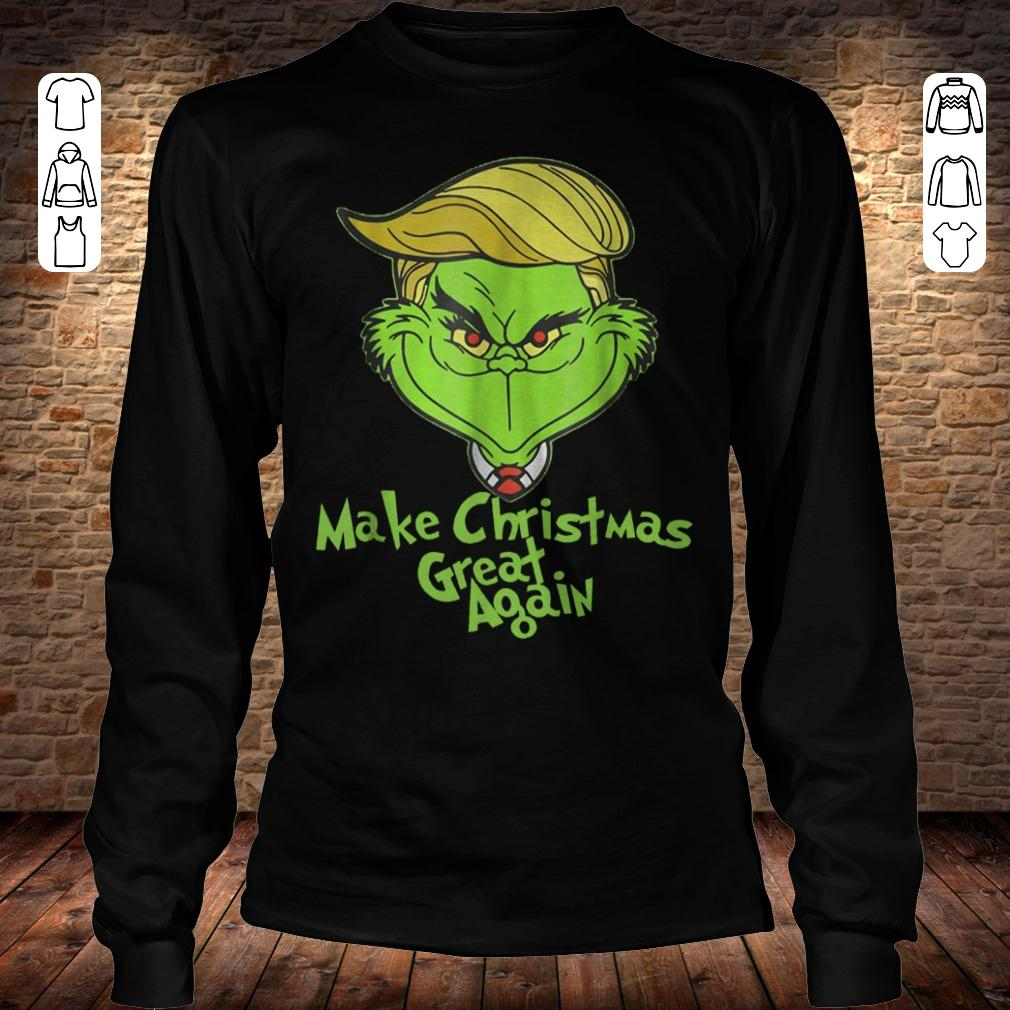 Grinches Trump make christmas great again shirt Longsleeve Tee Unisex