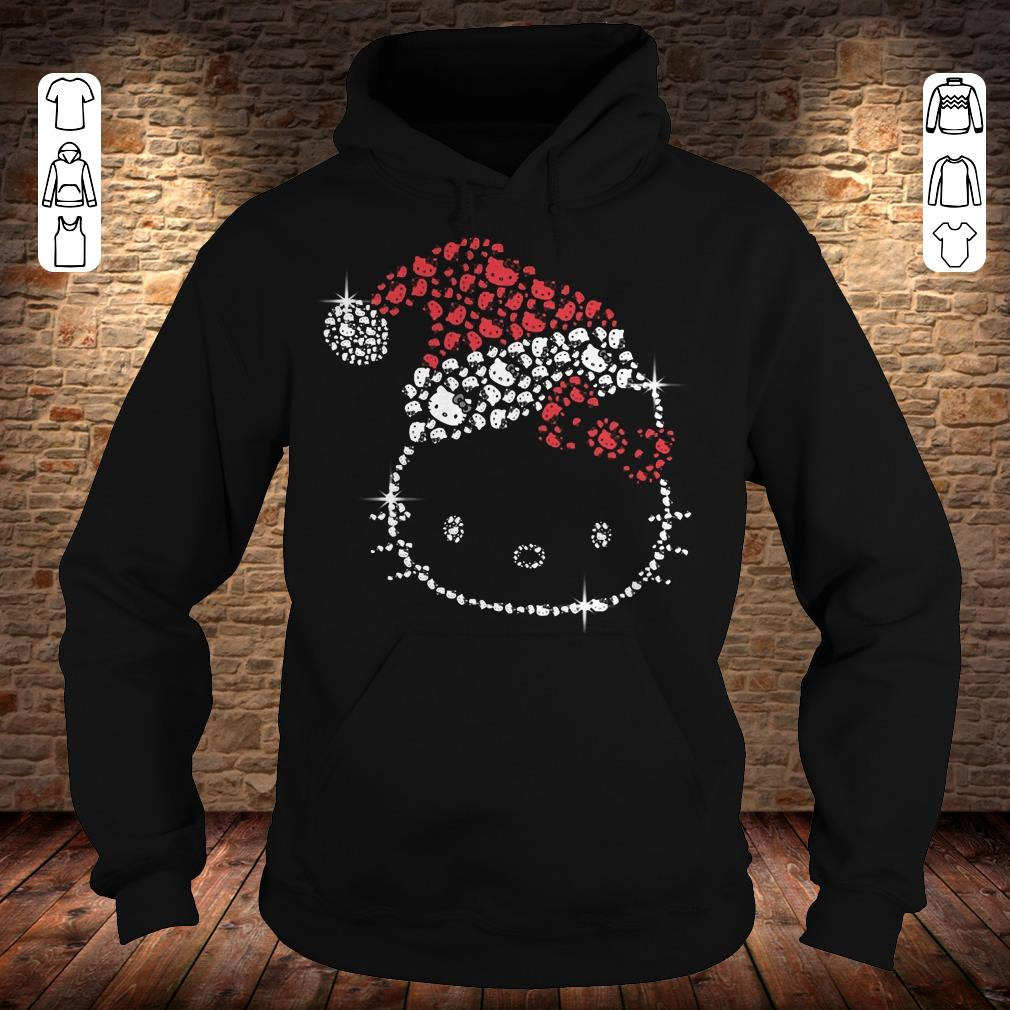 Hello Kitty Santa Hat Rhinestone shirt Hoodie