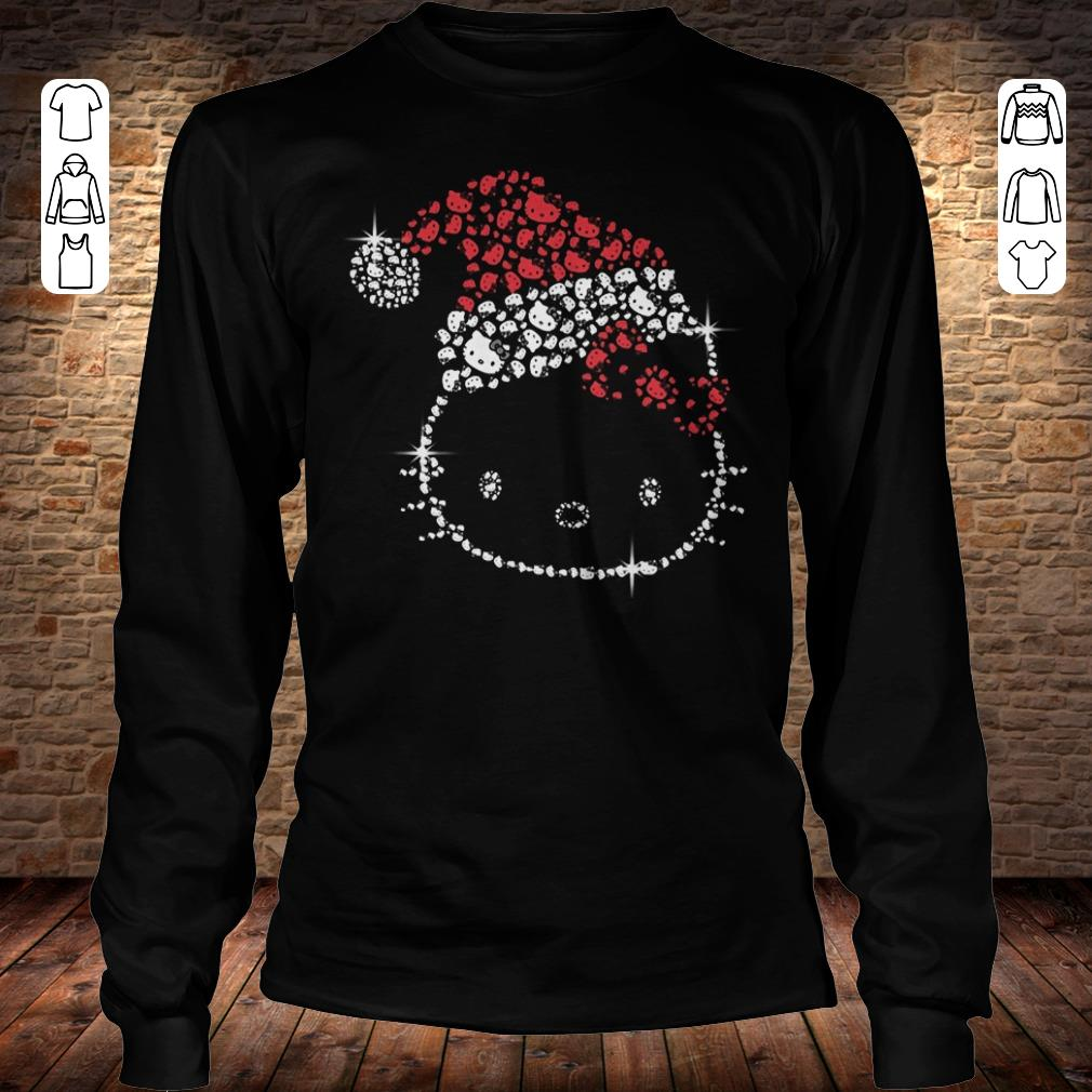 Hello Kitty Santa Hat Rhinestone shirt Longsleeve Tee Unisex