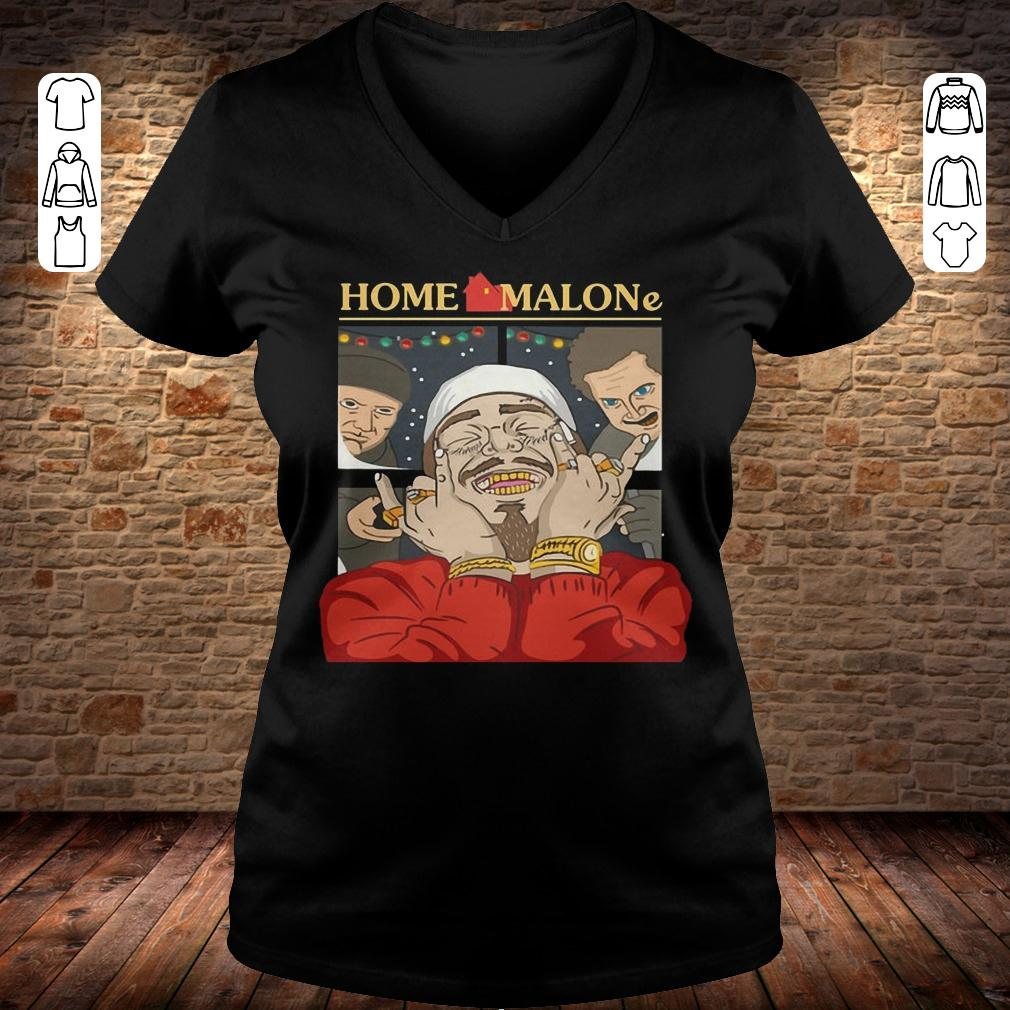 Home Alone and Post Malone Mashup Ladies V-Neck