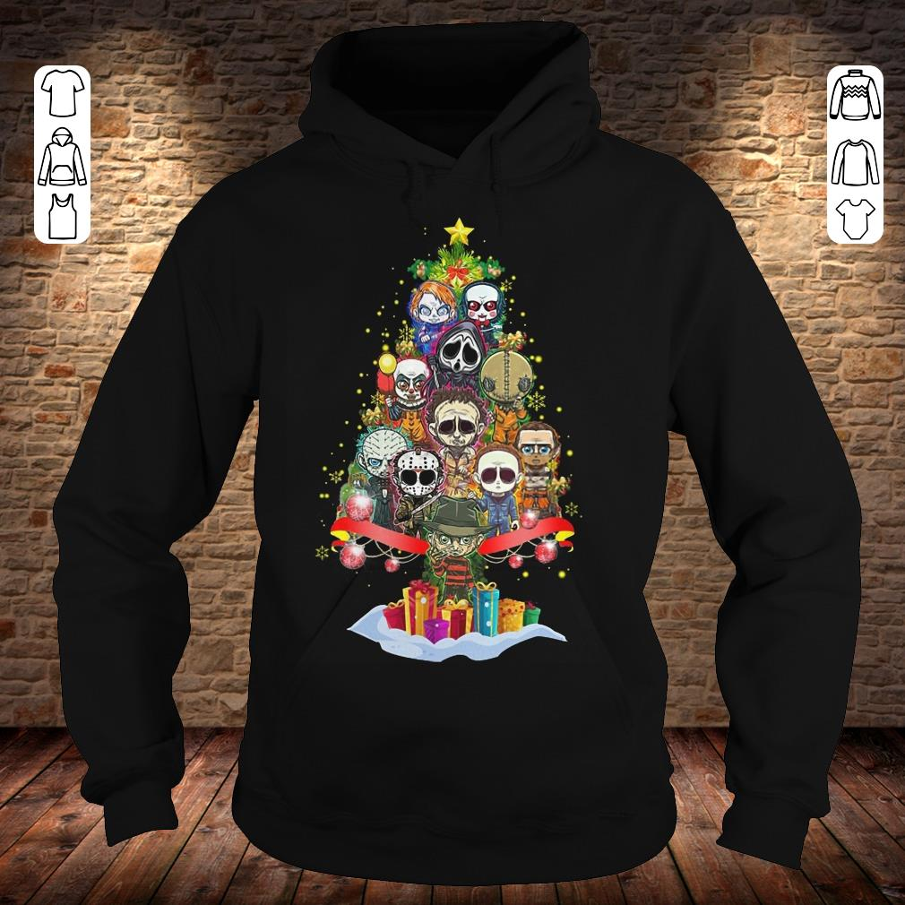 Horror characters nightmare christmas tree shirt Hoodie
