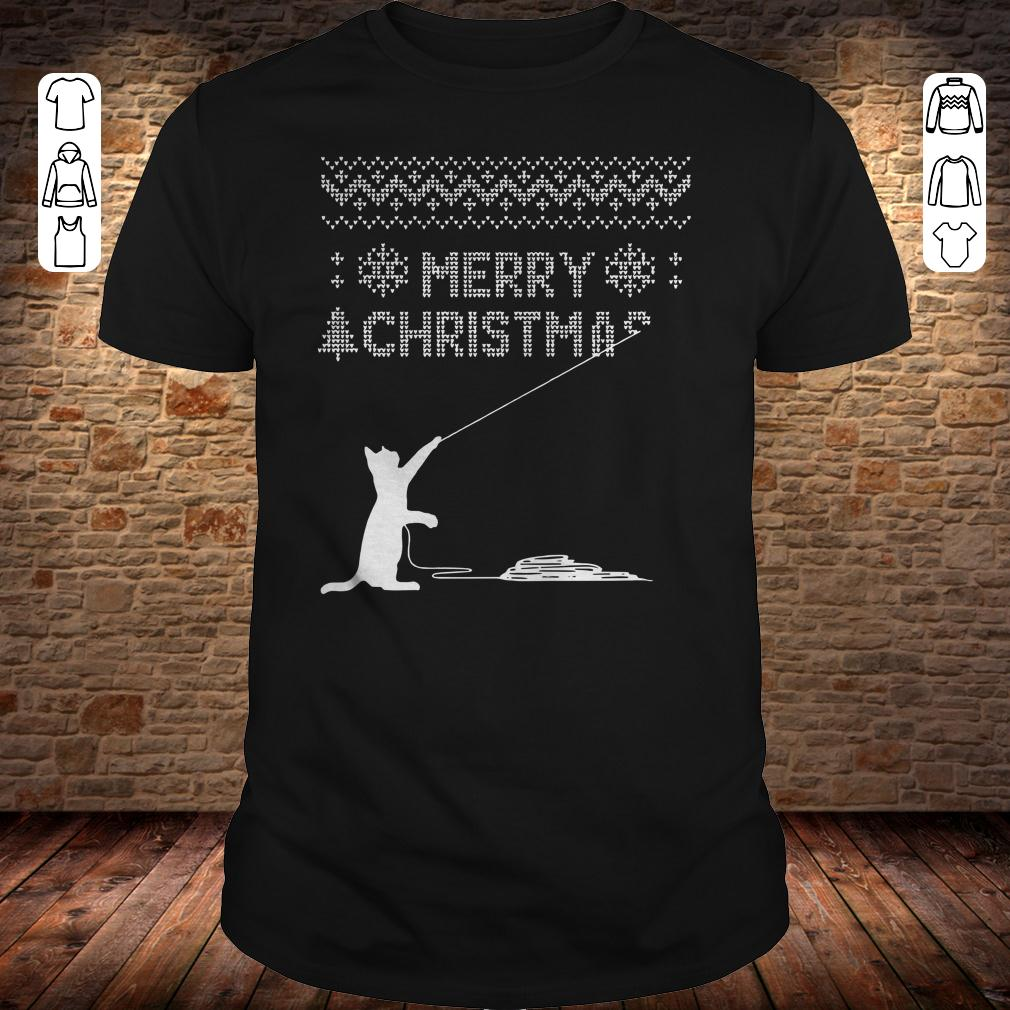 How to cat stole christmas shirt