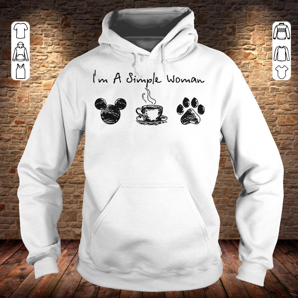 I'm a simple woman I like Mickey Minnie Mouse Coffee and Dog shirt Hoodie