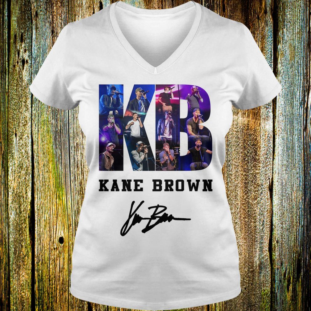 Kane Brown Signed Autograph shirt Ladies V-Neck
