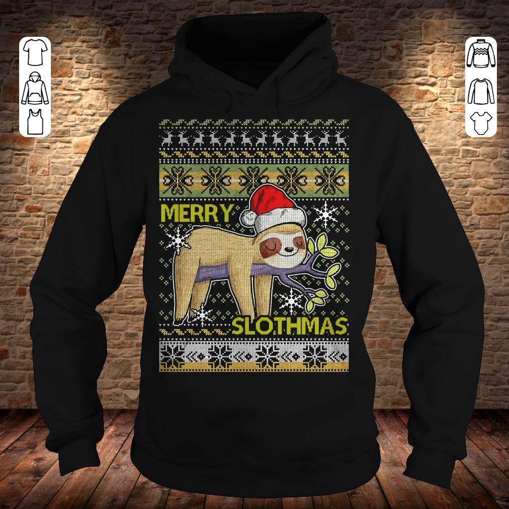 Merry Slothmas sweater shirt Hoodie